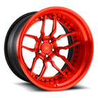 18-24 inch customize 3 piece forged wheel rim with deep lip