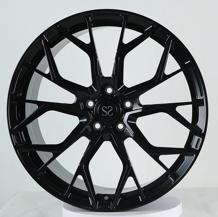 21x10 and 21x12 Gloss Back 1 pc monoblock forged rims Ferrari Wheels