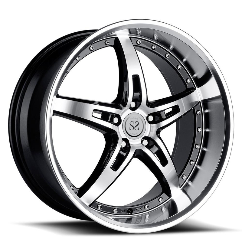 "20"" 2pc replica staggered forged aluminum alloy deep lip wheel for range rover"