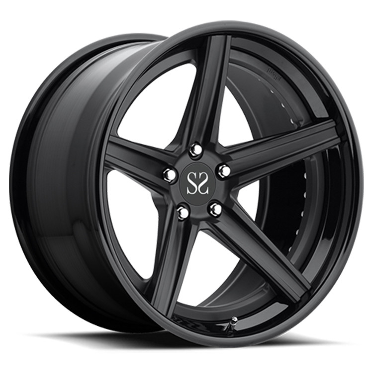 Gloss Black 120.65mm PCD 19 inch alloy rims For Lexus IS
